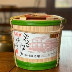 まるゆき手作り味噌大地4kg木樽入り