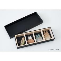 信楽焼となりのトトロ箸置き4点セット(化粧箱付) totoro-h