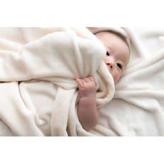 シール織綿毛布(無地)(アイボリー)ダブル 三和シール工業株式会社
