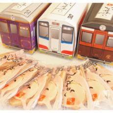 【三陸銘菓】元祖いかせんべい 三鉄車両箱ギフトボックス