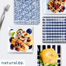 【波佐見焼】natural69 swatch 正角皿5枚セット QA15