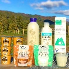 【牧成舎】飛騨産生乳で作るこだわりの牛乳・ヨーグルト・チーズのよりどり6種セット A32