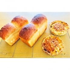 キッシュ・甘糀食パンのセット