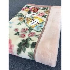 日本製 アクリル マイヤー毛布 シングル ピンク 1枚 (新合繊合わせ毛布)1629