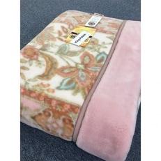 日本製 アクリル マイヤー毛布 シングル ピンク 1枚 (新合繊合わせ毛布)1631