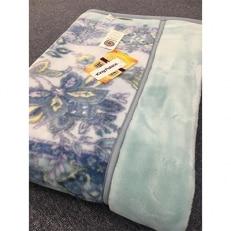 日本製 アクリル マイヤー毛布 シングル ブルー 1枚 (新合繊合わせ毛布)1631