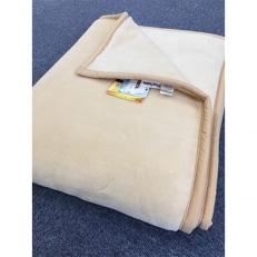 日本製 アクリル マイヤー毛布 SLサイズ ベージュ 1枚 (新合繊ニューマイヤー毛布)1140