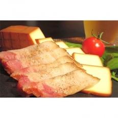 ベーコン屋のオヤジの無添加ベーコン(約480g)とスモークチーズ(約290g)  DA-02