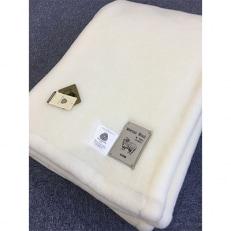 メリノウール ニューマイヤー毛布 シングル アイボリー(毛羽部分メリノウール100%)3130IV