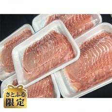 【さとふる限定】村下商事大容量シリーズ 豚ロース薄切り ドッサリ2kg【400g×5パック】