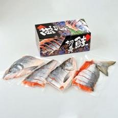 北海道日高産【新巻鮭雄1本姿切り身】(約2.5kg)