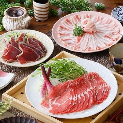 鹿児島産黒豚シャブシャブ&鰹タタキ