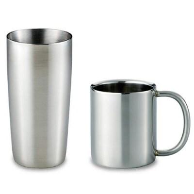 ステンレスマグカップ(300ml)、真空タンブラー(440ml)セット