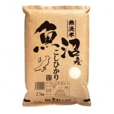 2020年2月発送開始『定期便』無洗米 お米マイスター厳選魚沼産コシヒカリ100%2.5kg全6回