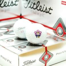 タイトリストProV1X  ダブルナンバー もとまるプリント ゴルフボール3ダースセット(36球)