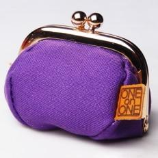 ONEonONEオリジナル 帆布がま口(紫)