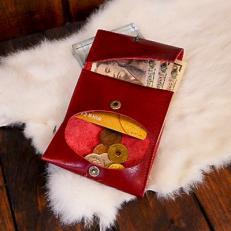 「手作り創作鞄槌井」コンパクト三つ折り財布
