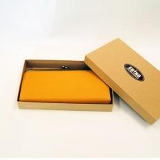 シカ革長財布 がま口(黄色)えびの市鹿協会