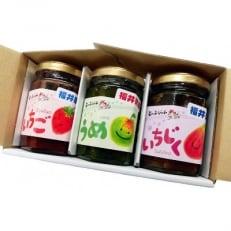 【福井県産】フルーツを使ったジャム3品のセット