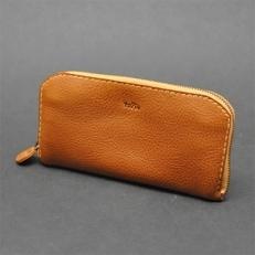【topiv】ファスナータイプの長財布(キャメル)