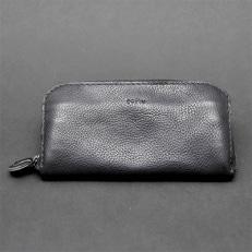 【topiv】ファスナータイプの長財布(ブラック)