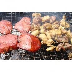 【簡単調理】国産鶏炭火焼と厚切り燻り牛タンスモーク食べくらべセット