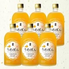 デコポンストレート果汁入梅酒「うめぽん」720ml 6本セット