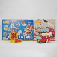LaQ クリスタル400+ハマクロンコンストラクターファイヤートラック