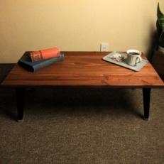 無垢材 折りたたみローテーブル(圧着タイプ)