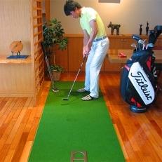 ゴルフ練習用・SUPER-BENTパターマット90cm×3mと練習用具