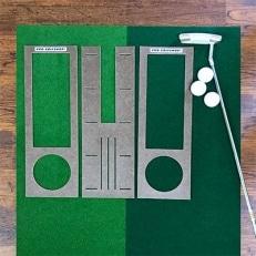 ゴルフ練習用・クオリティ・コンボ 30cm×3m(高品質パターマット2枚組と練習用具)