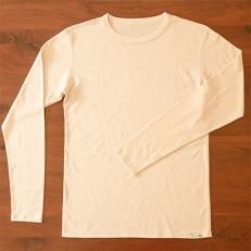 オーガニックコットン Tシャツ長袖 メンズ(Mサイズ)・日本アトピー協会推薦品