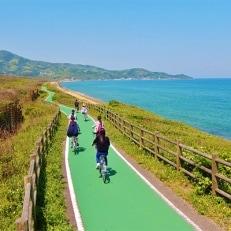 海辺のサイクリング&八幡屋満海の湯ペアチケット