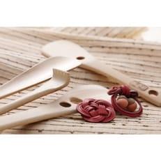 竹材の民芸品・ブローチセット