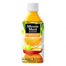 ミニッツメイド朝の健康果実オレンジブレンド 350mlPET 1ケース(24本)
