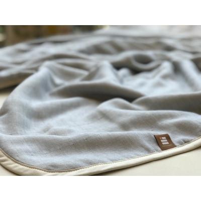 ふっくらやさしい三河木綿の5重ガーゼケット(ブルー) H036-003