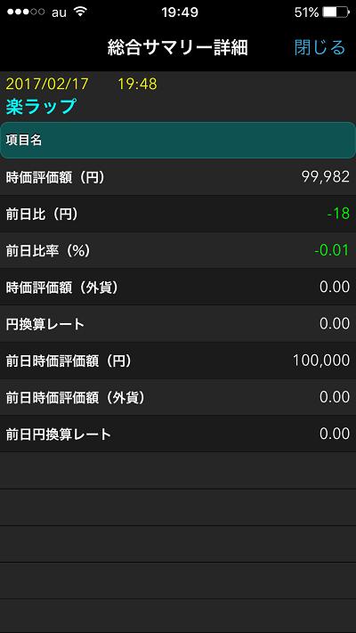 楽ラップ(楽天証券)