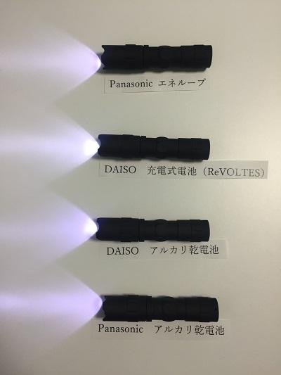 全ての電池が一斉にライト点灯