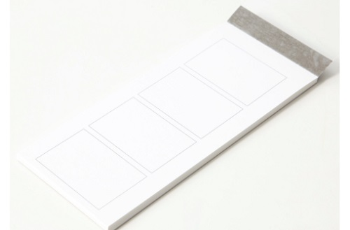 無印の短冊型メモ4コマ