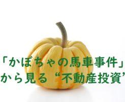 かぼちゃの馬車事件からみる不動産投資
