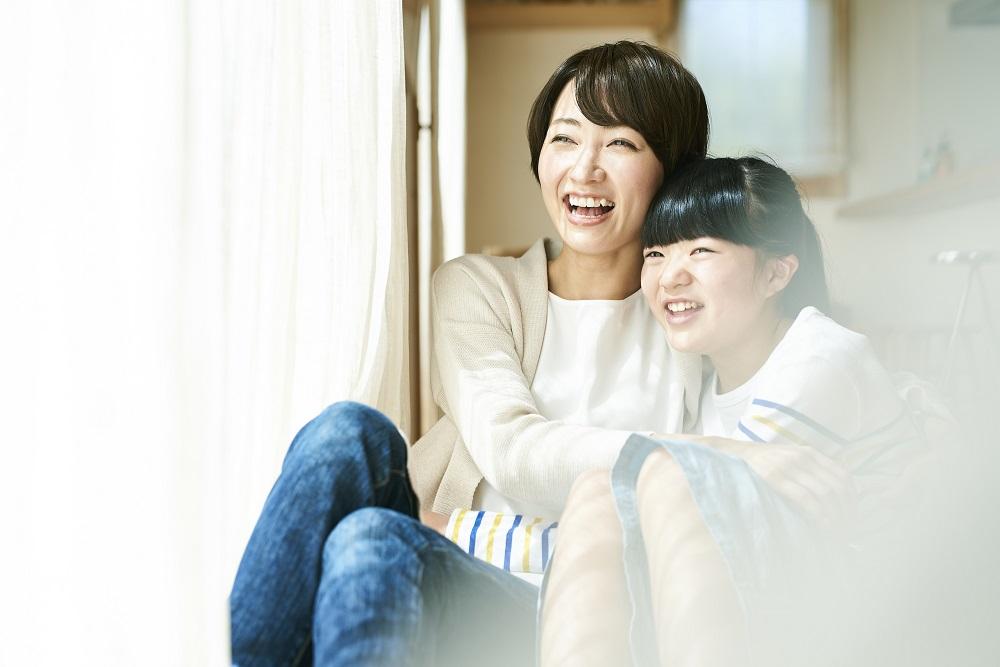 家族のための笑顔