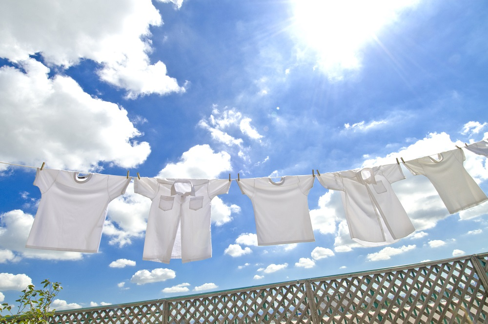 夏服はジャブジャブ洗う
