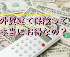 外貨建て保険って本当にお得なのか