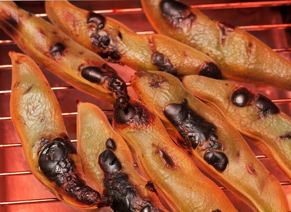 魚焼きグリルで焼き空豆をつくる