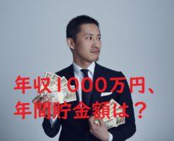 「年収1000万円、年間貯金額は?」