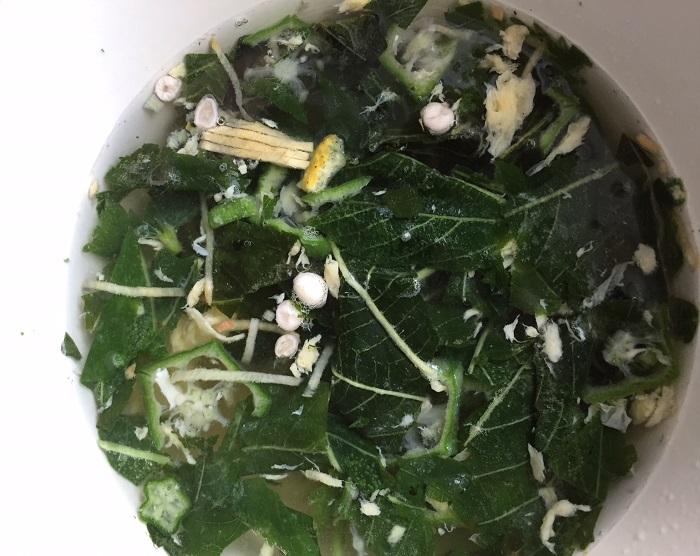 オクラとモロヘイヤのネバネバ野菜