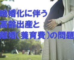 晩婚化に伴う高齢出産と離婚(養育費)の問題