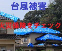 台風被害に火災保険