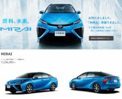 トヨタの燃料電池車「ミライ」