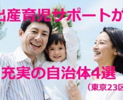 出産育児サポートが充実の自治体